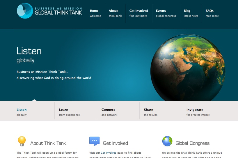 BAM Global Think Tank website