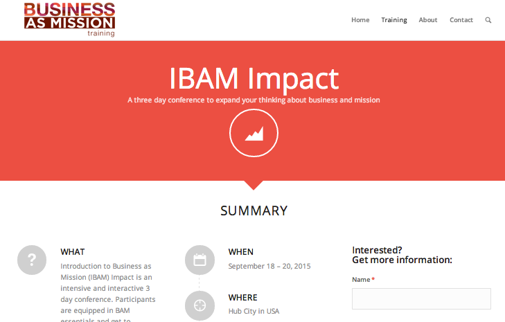 Event: IBAM Impact Sept 2015